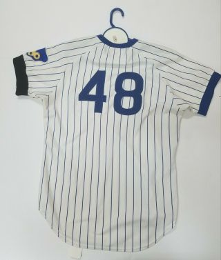 RICK REUSCHEL GAME - WORN CHICAGO CUBS JERSEY 1977 2