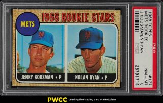 1968 Topps Nolan Ryan Rookie Rc 177 Psa 8 Nm - Mt (pwcc)