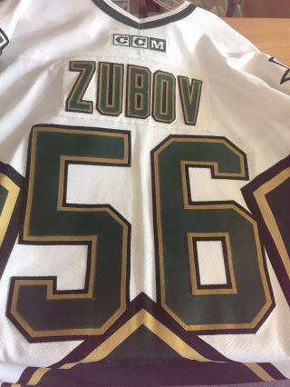 Segei Zubov Game Used/worn Dallas Stars Jersey Meigray Hall Of Fame