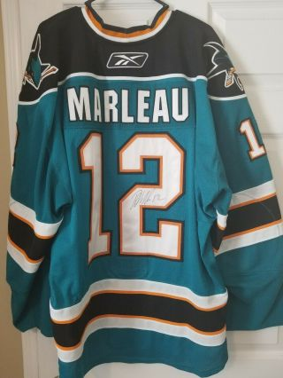 San Jose Sharks 2009 Patrick Marleau Game And Signed Jersey