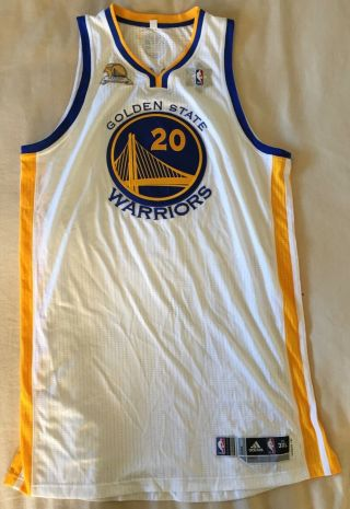 Golden State Warriors Ekpe Udoh Game Worn 50th Anniversary Jersey Meigray