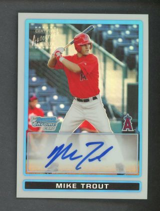 2009 Bowman Chrome Refractor Mike Trout Angels Rc Rookie Auto 426/500