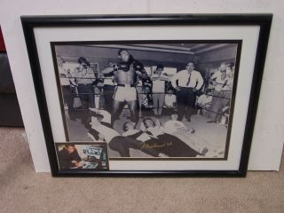 Signed Muhammad Ali Standing Over The Beatles