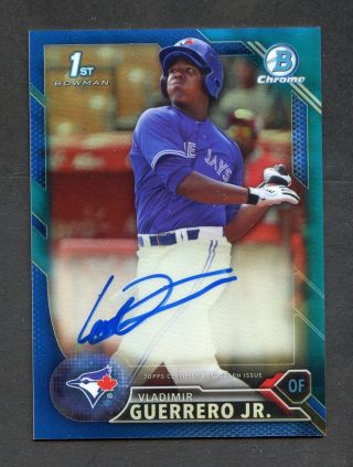 2016 Bowman Chrome Blue Refractor Vladimir Guerrero Jr Rc Rookie 116/150 Auto