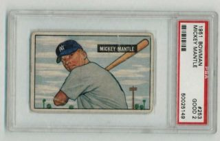1951 Bowman Mickey Mantle Psa 2