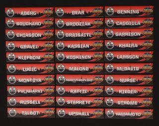 Connor Mcdavid 2018 Set Of 30 Edmonton Oilers Locker Room Stall Nameplates