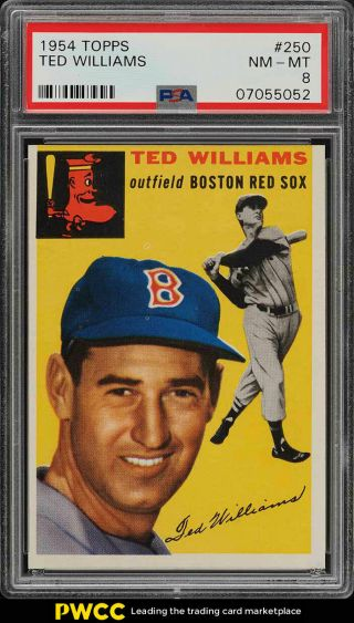1954 Topps Ted Williams 250 Psa 8 Nm - Mt (pwcc)