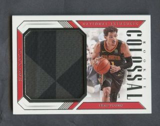 2018 - 19 National Treasures Colossal Trae Young Rc Rookie Jumbo Patch 64/99