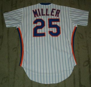 York Mets Keith Miller Game Worn 1987 Rookie Jersey (k.  C.  Royals)