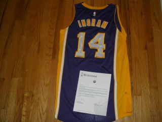 Brandon Ingram Los Angeles Lakers Game Worn Jersey Nba Entertainment Letter