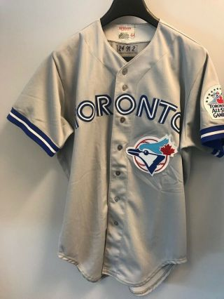 Game Used/worn Toronto Blue Jays Jersey 1991 All Star Patch Glenallen Hill