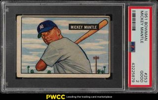 1951 Bowman Mickey Mantle Rookie Rc 253 Psa 2 Gd (pwcc)