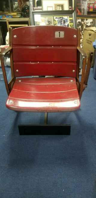 Pittsburgh Pirates Steelers Three Rivers Stadium Seat Section Seat Red