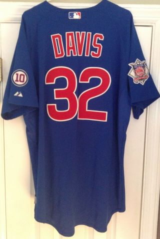 2011 Doug Davis Game Worn Chicago Cubs Jersey