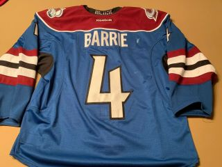 Colorado Avalanche Tyson Barrie Game Worn 3rd Jersey 2013 - 14 Season