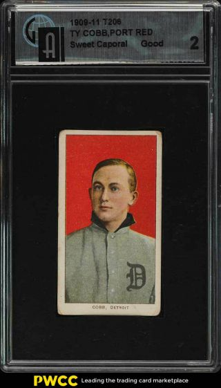 1909 - 11 T206 Ty Cobb Red Portrait Gai 2 Gd (pwcc)