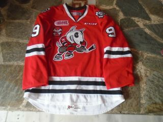 Ohl Niagara Ice Dogs Game Worn Alternate Red Jersey 9 Dame 10th P
