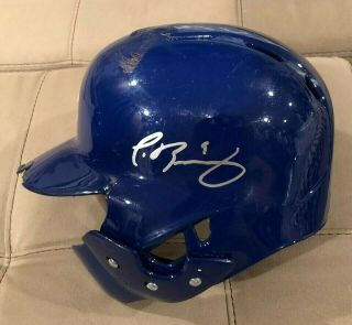 Javier Baez Game Auto Helmet El Mago Chicago Cubs Mlb Holo Authenticated