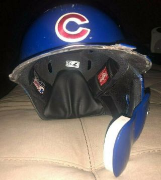 Javier Baez Game auto Helmet El Mago Chicago Cubs MLB Holo authenticated 7