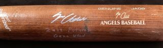 Jo Adell Los Angeles Angels Signed 2019 Futures Game Game Bat Jaf