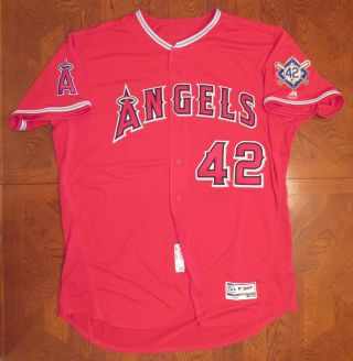Albert Pujols 6/25/18 La Angels Jackie Robinson Day 42 Worn Jersey Team Issued