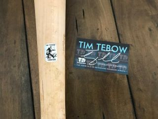 Tim Tebow GAME ZINGER BAT autograph SIGNED Mets Gators TEBOW 7