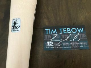 Tim Tebow GAME ISSUED 2018 DOVE TAIL BAT autograph SIGNED Mets Gators TEBOW 6