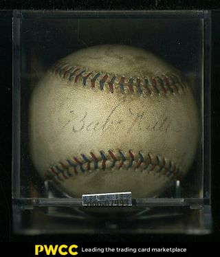 Babe Ruth Single Signed Oal Baseball Sweet Spot Auto,  Rotman (pwcc)