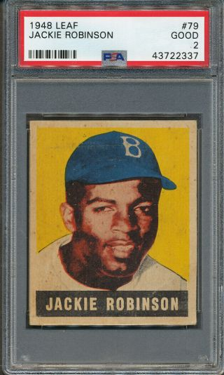 1948 Leaf 79 Jackie Robinson Psa Good 2 2337