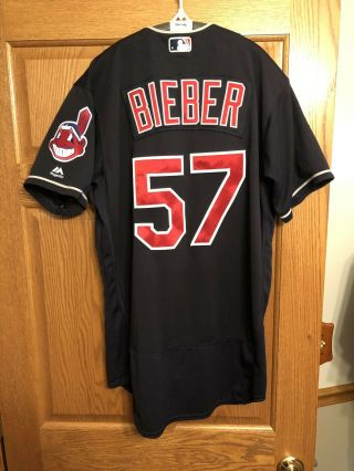 Shane Bieber Game Jersey,  Cleveland Indians,  Rookie Year,  Mlb Auth
