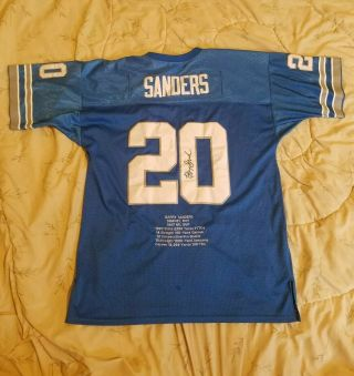 Vintage Mitchell & Ness Barry Sanders 20 Detroit Lions Nfl Football Jersey