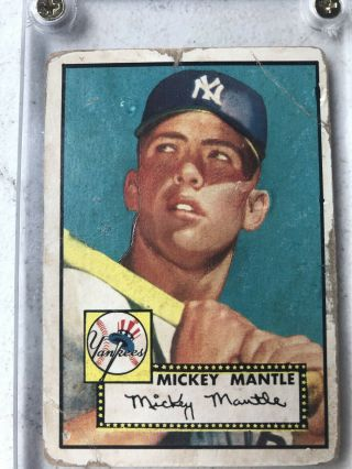 1952 Topps 311 Mickey Mantle Rookie Certification Of Authentication