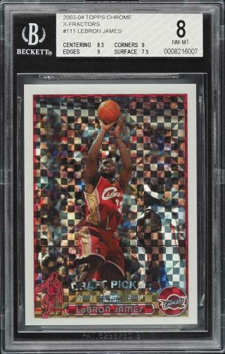 2003 Topps Chrome Lebron James Xfractor Rc Bgs 8 004/220 9 Corners & Edges