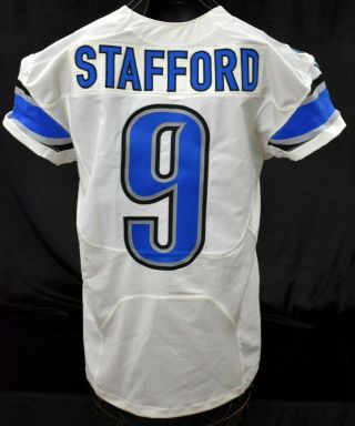 2014 Stafford 9 Detroit Lions Game Worn Football Jersey W/ Wcf Patch Loa