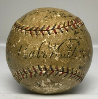 Babe Ruth Lou Gehrig Signed 1930 Yankees Team Baseball 21 Auto