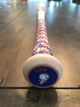 Tim Tebow GAME 2018 DINGGER BAT autograph SIGNED Mets Gators TEBOW 2