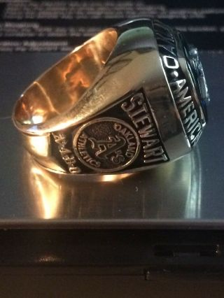1990 Oakland A ' s American League Championship Ring 10K 3