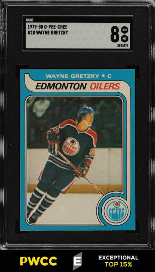 1979 O - Pee - Chee Hockey Wayne Gretzky Rookie Rc 18 Sgc 8 Nm - Mt (pwcc - E)