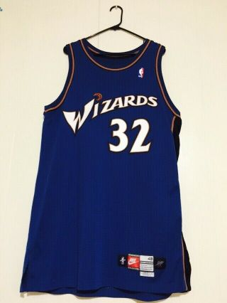 Washington Wizards 1999 - 00 Richard Rip Hamilton Game Worn Jersey Rookie Loa