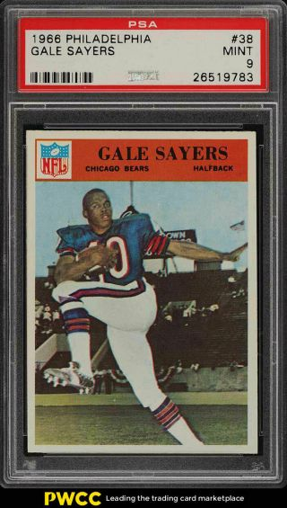1966 Philadelphia Gale Sayers Rookie Rc 38 Psa 9 (pwcc)