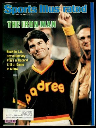 Si: Sports Illustrated April 25,  1983 Steve Garvey,  Baseball,  San Diego Padres