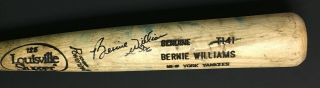 Bernie Williams Game Louisville Slugger Baseball Bat Signed York Yankee