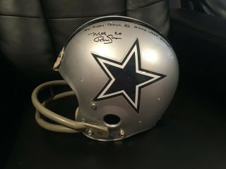 "Dallas Cowboys Mel Renfro Signed Inscr "" My Bowl Xii Game Helmet "" Loa"