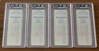 1980 Olympics Hockey Miracle on Ice USA vs USSR Complete Full (8) Ticket Set PSA 2