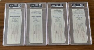 1980 Olympics Hockey Miracle on Ice USA vs USSR Complete Full (8) Ticket Set PSA 4