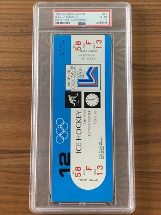1980 Olympics Hockey Miracle on Ice USA vs USSR Complete Full (8) Ticket Set PSA 5