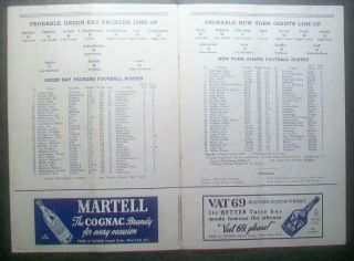 1938 NFL CHAMPIONSHIP PRE BOWL PROGRAM SUPERBOWL YORK GIANTS TAKE PAC 4