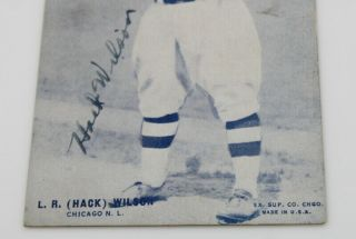 L.  R.  (HACK) WILSON CHICAGO CUBS SIGNED PHOTOGRAPH CIRCA 1930 NO RES 6162 - 1 3