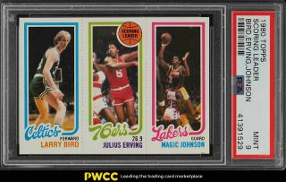 1980 Topps Basketball Larry Bird & Magic Johnson Rookie Rc Psa 9 (pwcc)