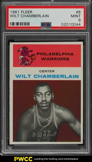 1961 Fleer Basketball Wilt Chamberlain Rookie Rc 8 Psa 9 (pwcc)